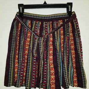Boho Print Skirt with belt